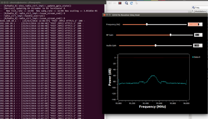 Streaming processed data from the E31x with GNU Radio and ZMQ
