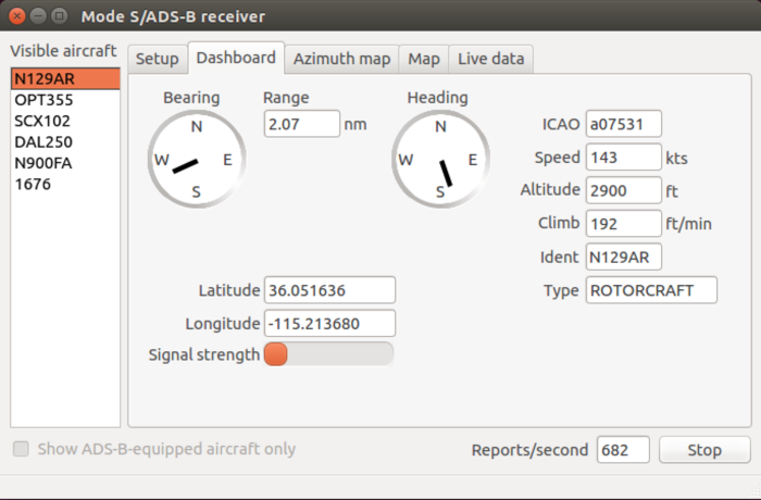 Implementation of an ADS-B/Mode-S Receiver in GNU Radio
